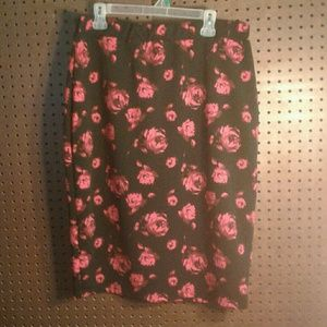 2 for $20 Abstract Roses Floral Skirt